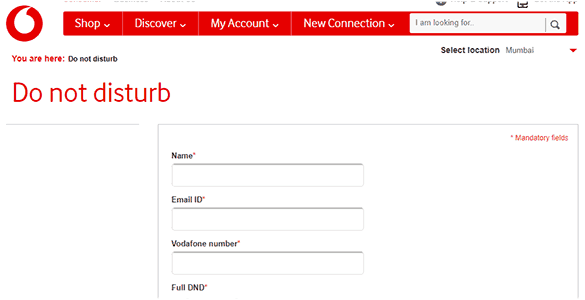 Vodafone DNA Online Registry