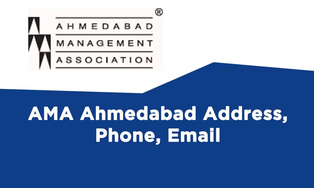 AMA Ahmedabad Address, Phone, Email, Contact Number
