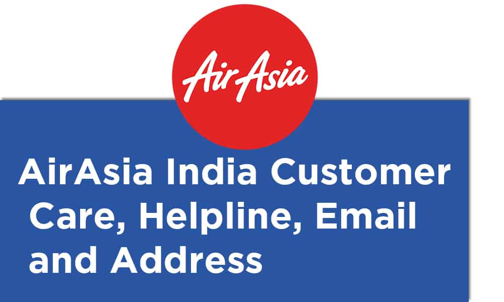 AirAsia India Customer Care Helpline Email and Address