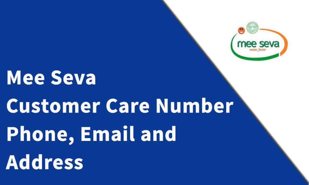 Mee Seva Customer Care Number
