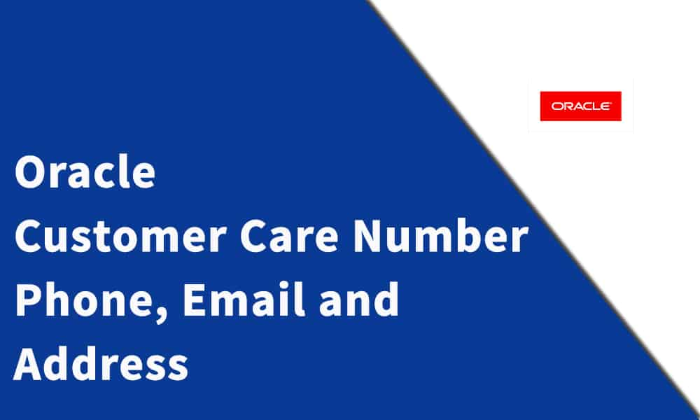 Oracle Customer Care Number