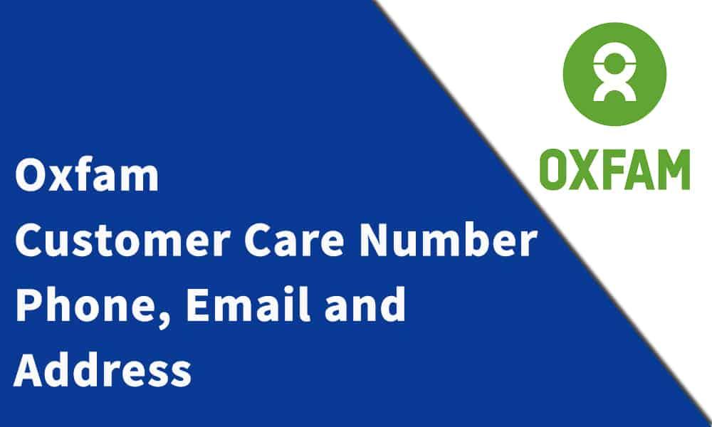 Oxfam Customer Care Number