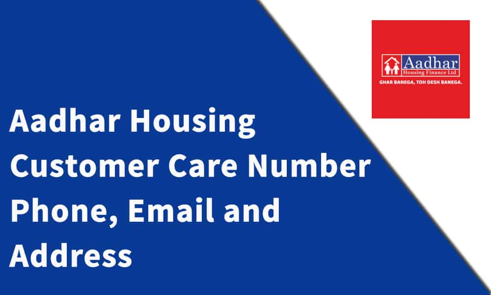 Aadhar Housing Finance Customer Care Number