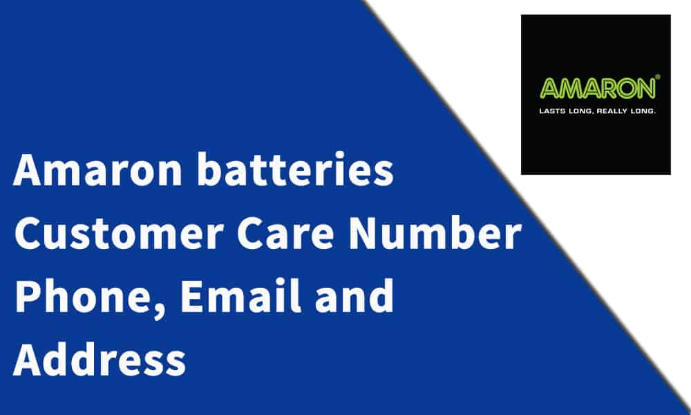 Amaron batteries Customer Care Number