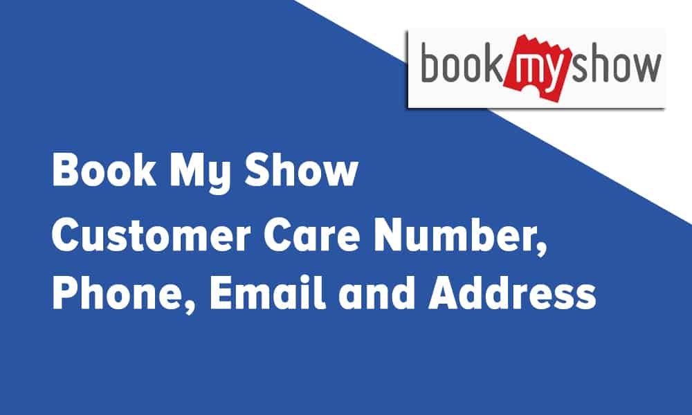 Book My Show Customer Care Number