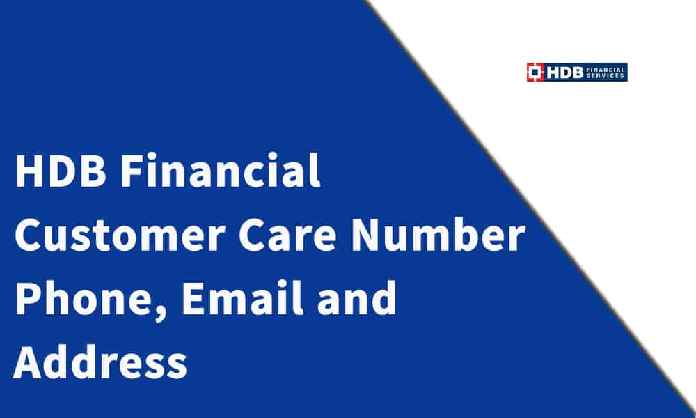 HDB Financial Services Limited Customer Care Number