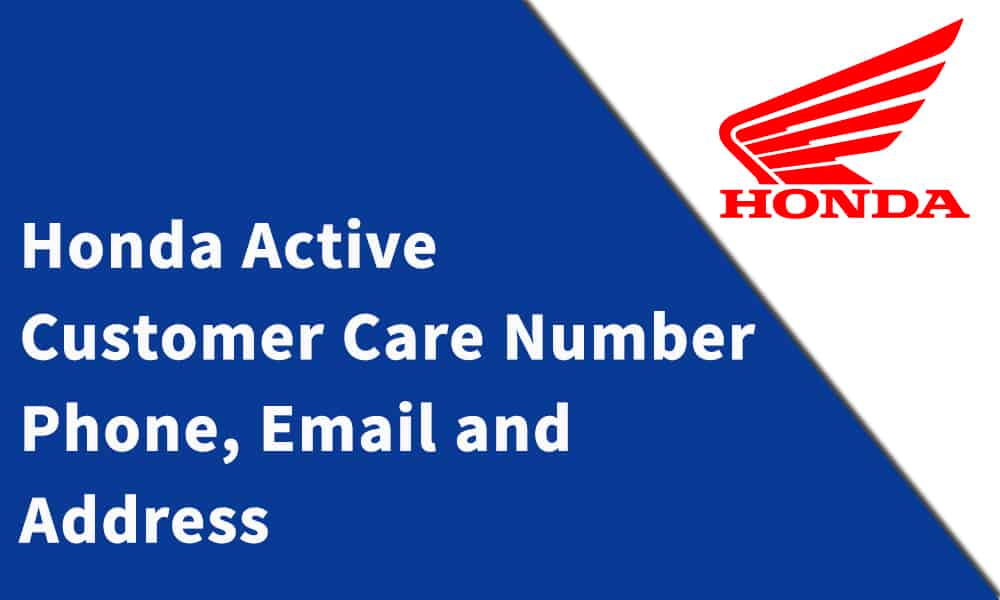 Honda Active Customer Care Number