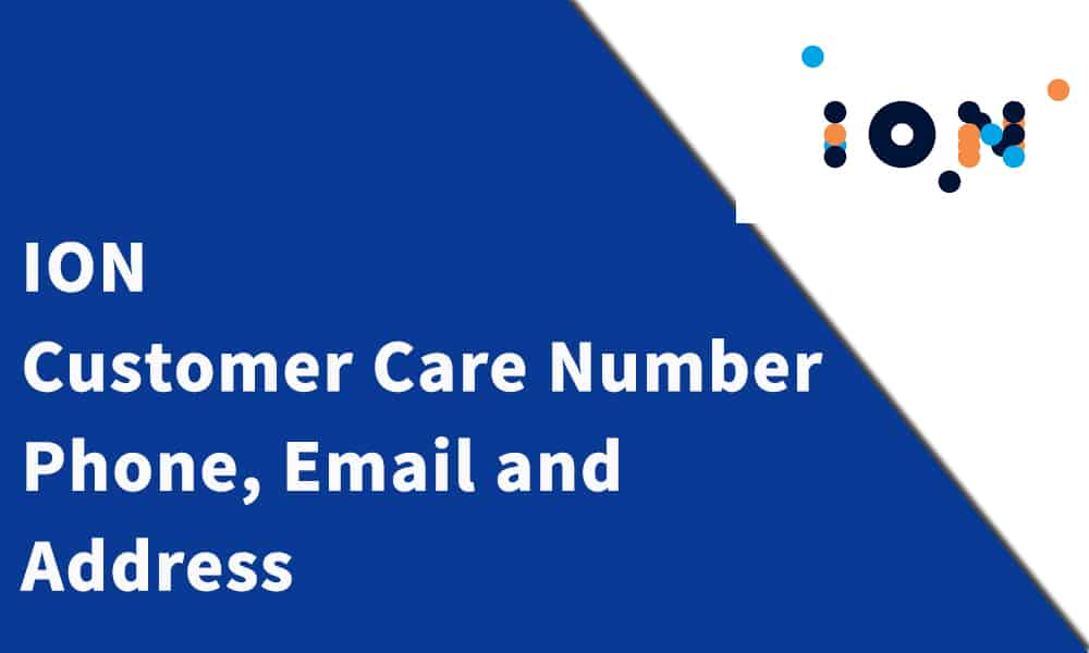 ION Customer Care Number, Phone, Email and Address