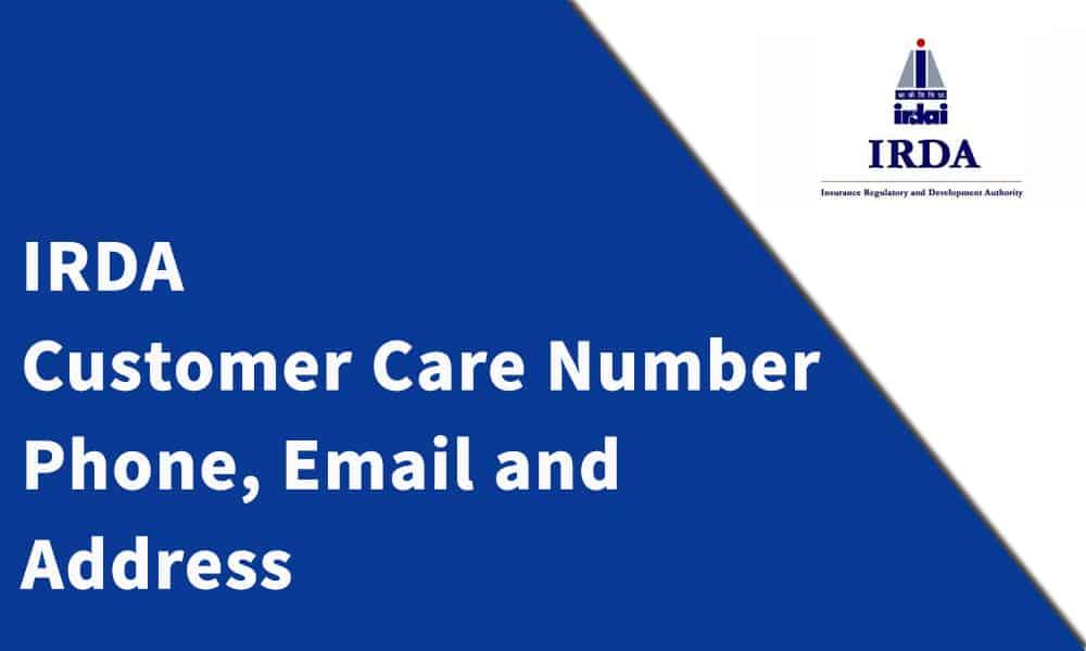 IRDA Customer Care Number