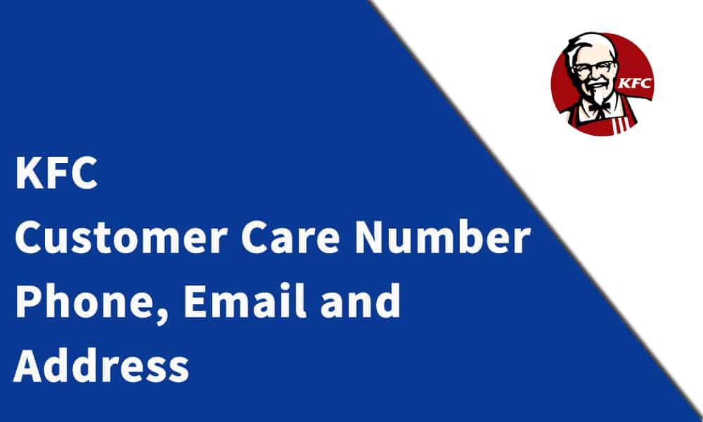 KFC Customer Care Number