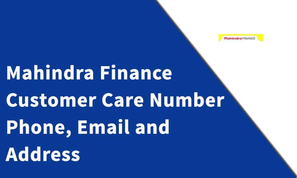 Mahindra Finance Customer Care Number