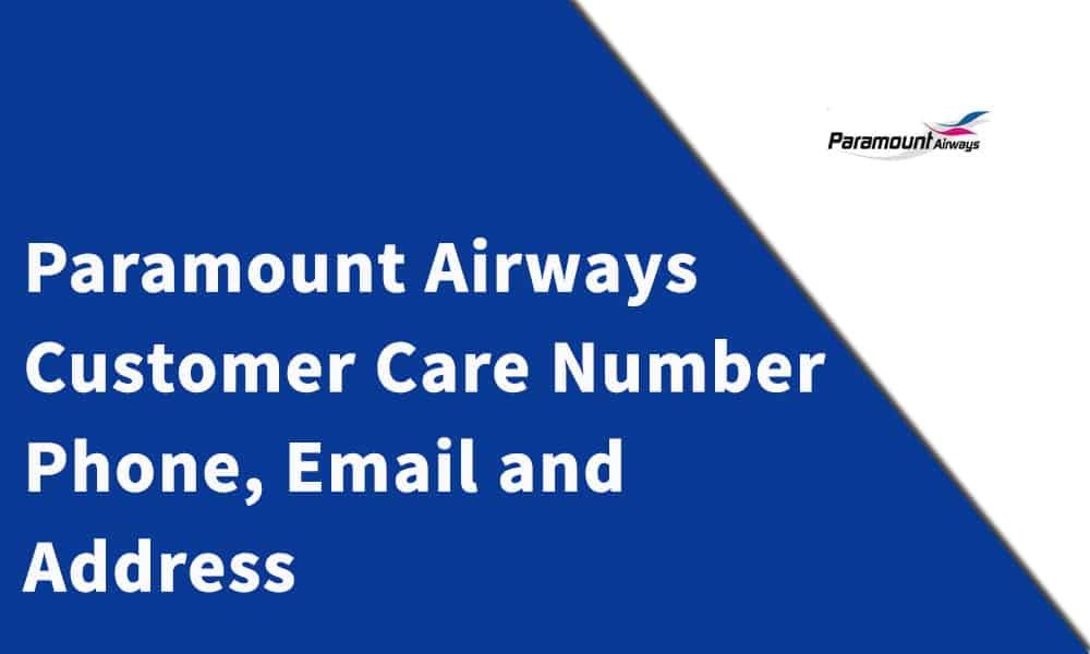 Paramount Airways Customer Care Number