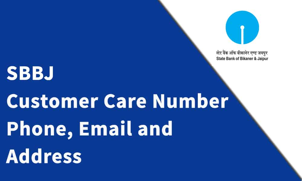 SBBJ Customer Care Number, Phone, Email and Address