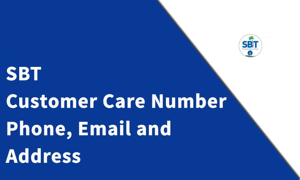 SBT Customer Care Number, Phone, Email and Address