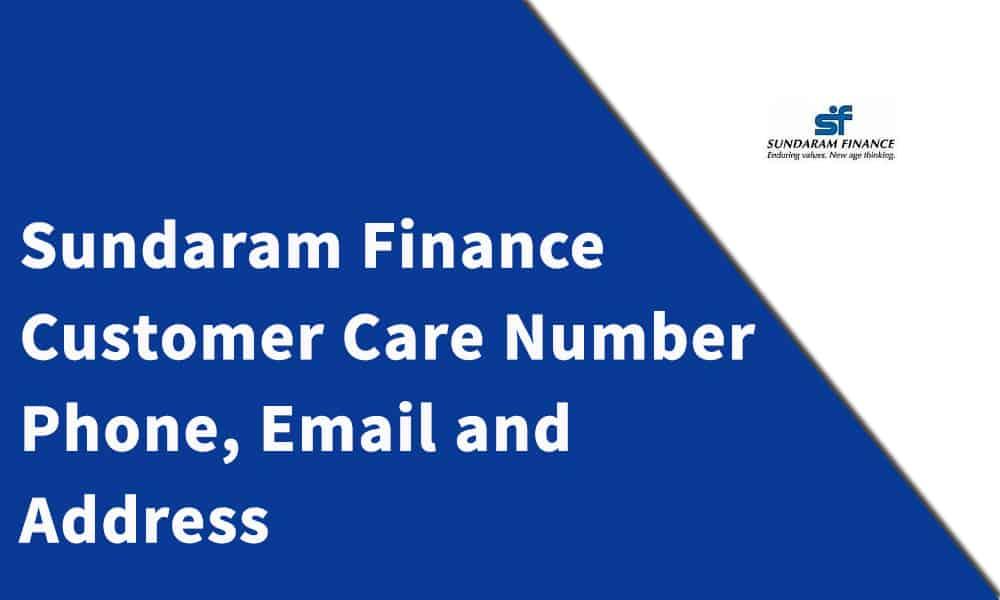 Sundaram Finance Customer Care Number