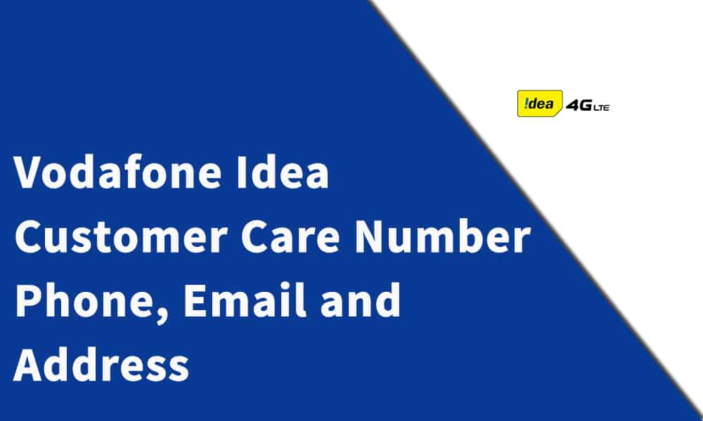 Vodafone Idea Customer Care Number