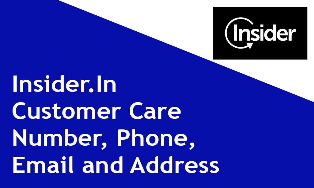 Insider.In Customer Care Number