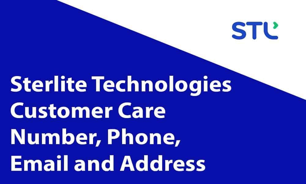Sterlite Technologies Customer Care Number
