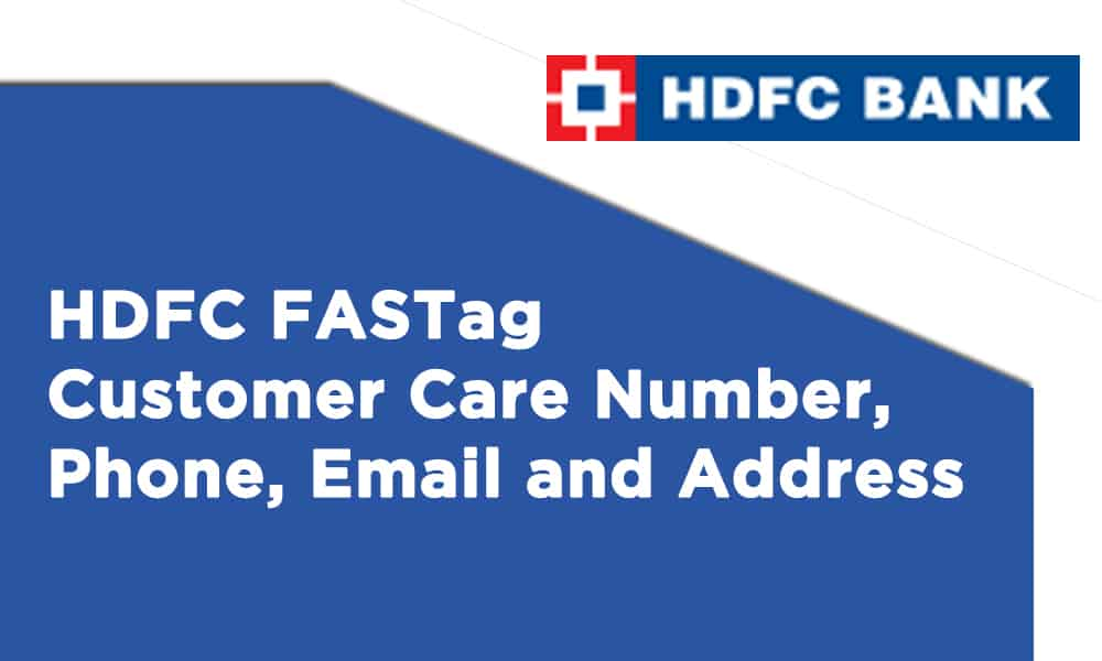 HDFC FASTag Customer Care Number