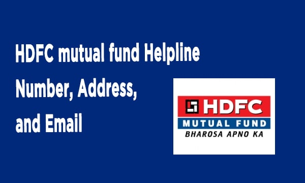 HDFC mutual fund Helpline