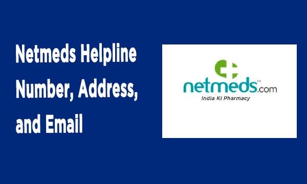 Netmeds Helpline
