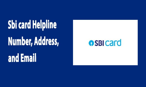 Sbi card Helpline